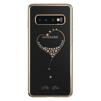 Чехол с Swarovski Kingxbar Wish для Galaxy S10 Gold